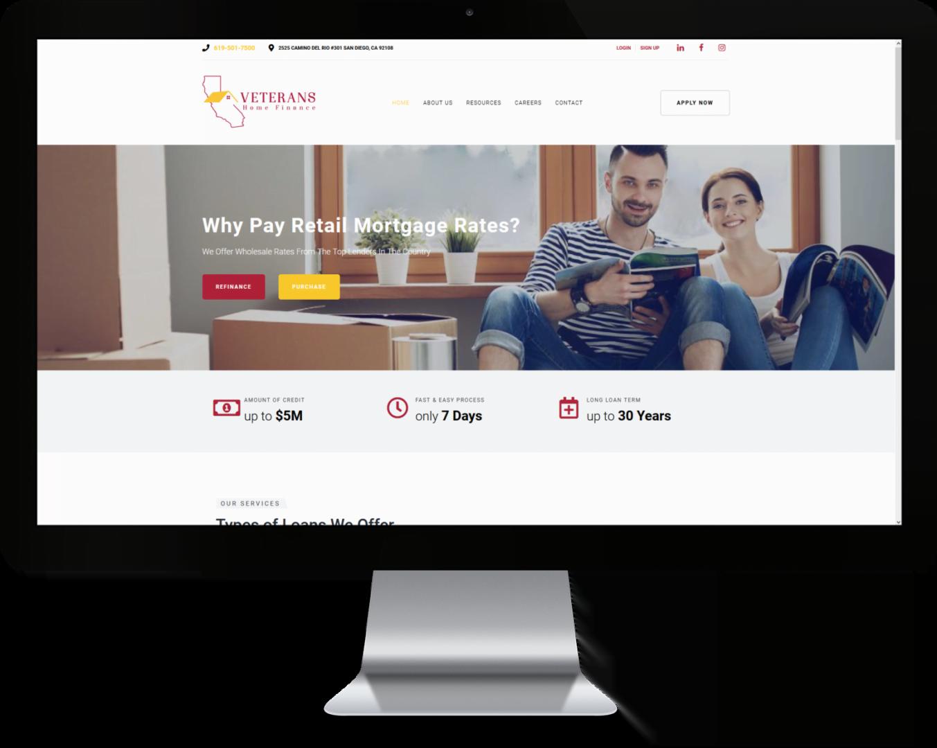 California Home Finance Custom Mortgage Website Design by CHEM.digital