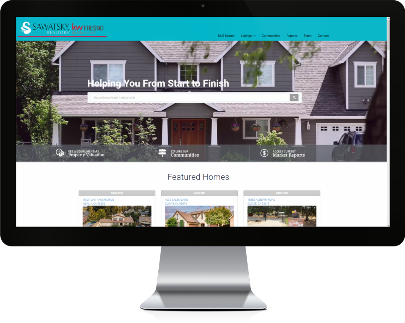 Sawatsky Realtors Custom WordPress IDX Real Estate Website Design by CHEM.digital