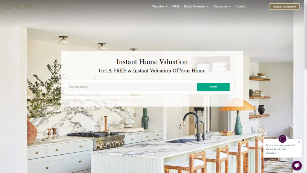 Seller Lead Landing Page Example