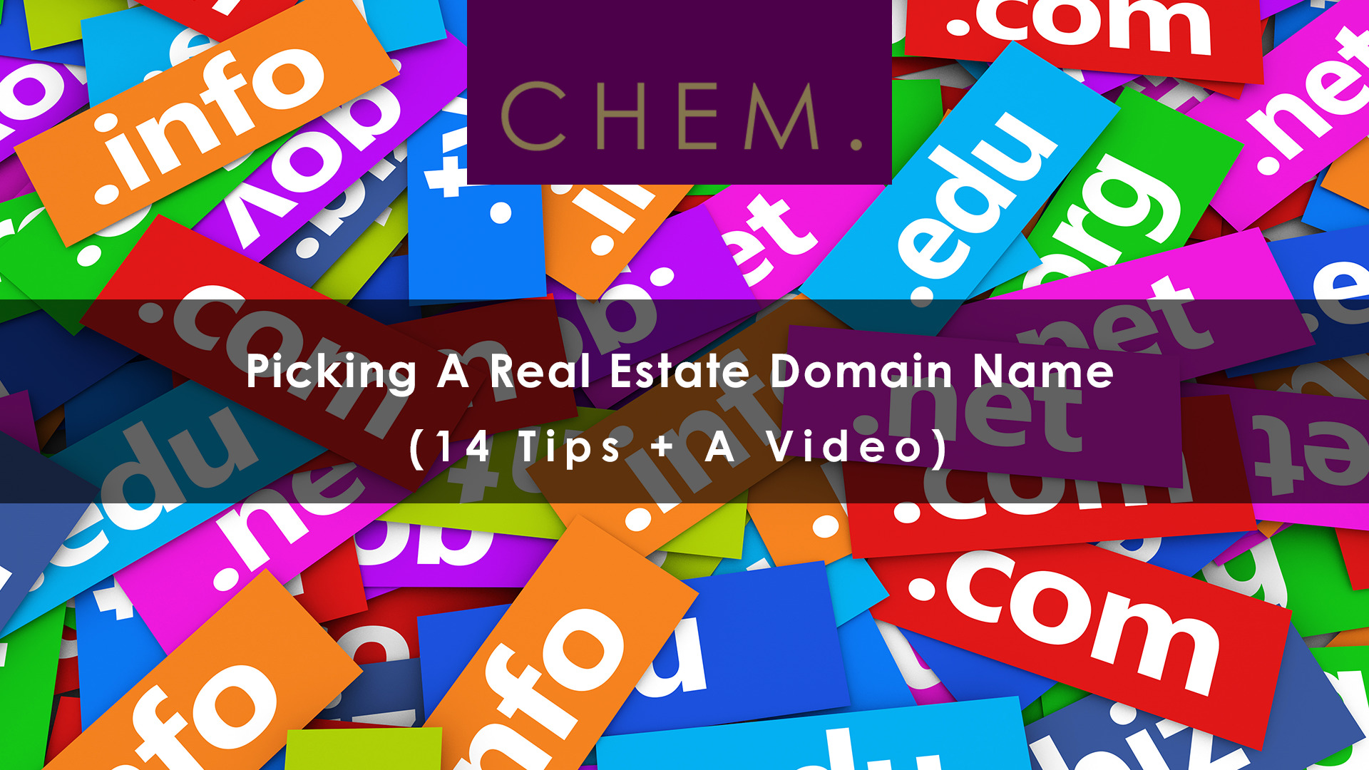 Picking A Real Estate Domain Name